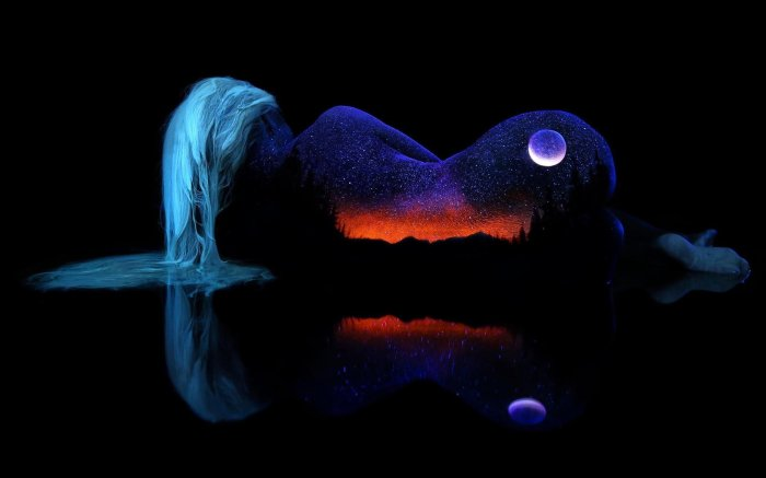 background-girl-the-body-hair-silhouette-outline-circuit-landscape-sky-night-moon-mountain-nature-reflection-surface-of-horizon